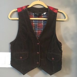 Urban Outfitters corduroy and Plaid Vest!